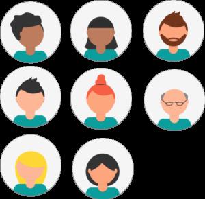 HR support team vector
