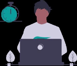 Employee technology vector