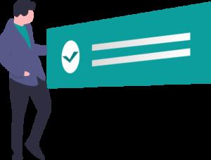 Wellness plan checklist vector