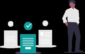 Employee retirement plans vector