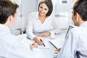 Company receiving human resource support services