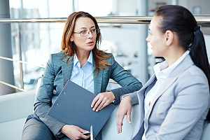 women talking about peo with potential worker