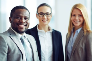 co workers happy where they work and their employee retention