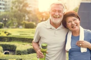 Senior Adult Couple Exercise Fitness Strength after knowing how does group health insurance work