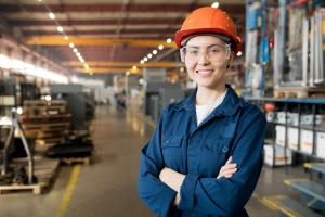 women with  Competitive Employee Benefits in manufacturing industry