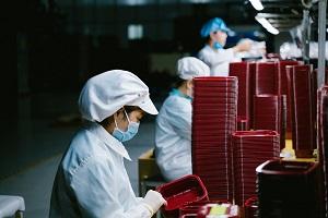 asian women working in factory