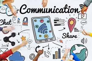 communication connection social network concept for benefits plan