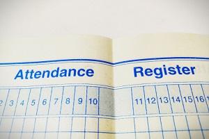 every day maintenance attendance register