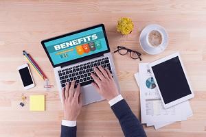 businessman is working on desk benefits