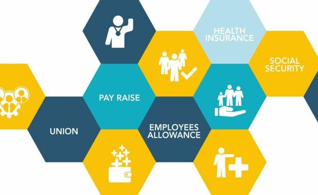 employee benefits icon concept