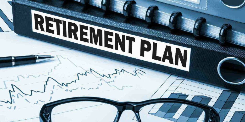 retirement plan label on document folder